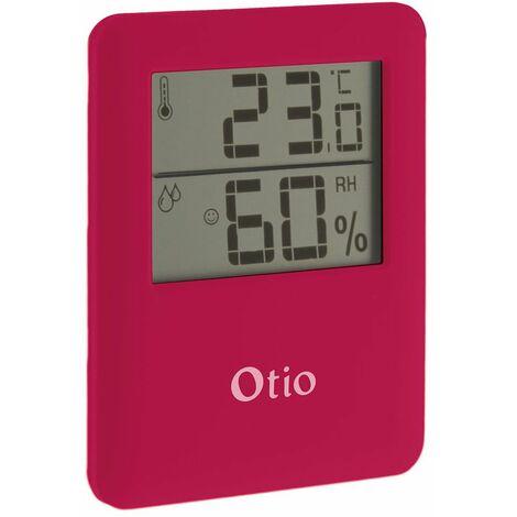 Thermomètre Hygromètre magnétique Otio à écran LCD - différents coloris