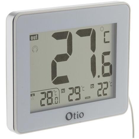 Thermomètre intérieur / Extérieur filaire - Noir et Blanc