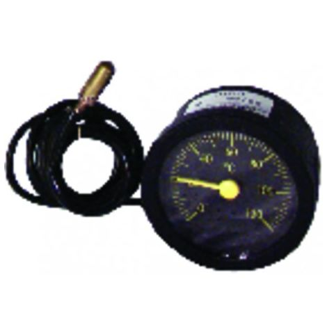 Thermomete r round dial 0° +120°c ø58mm cap900