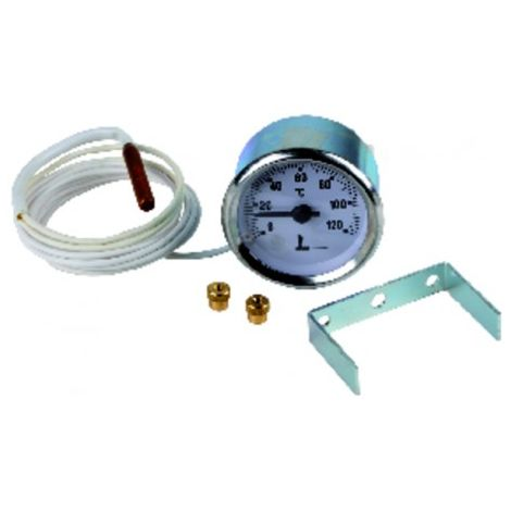 Thermomete r with round dial 0° to +120°c ø 56mm
