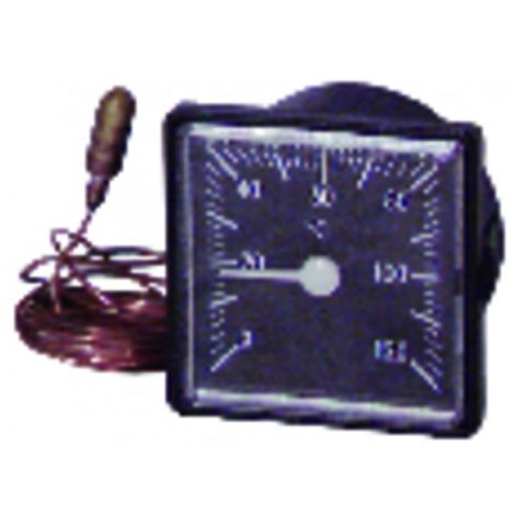 Thermometer square dial 0° - +120°c l x h 54mm