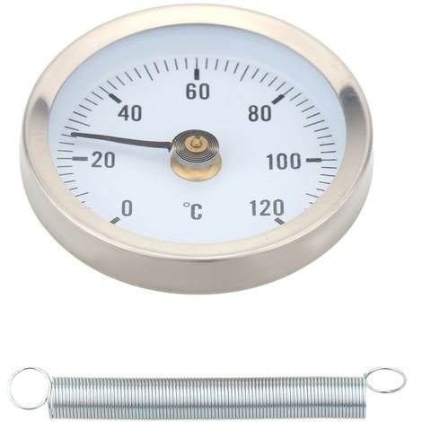 Thermometer with spring tube