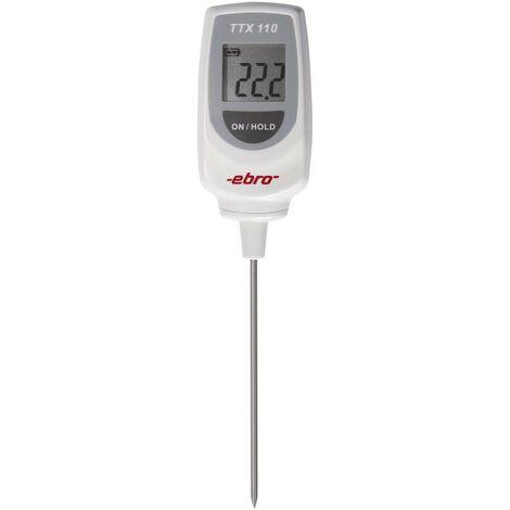 Thermomètre à sonde à piquer (HACCP) ebro TTX 110 1340-5110 -50 à 350 °C sonde T conforme HACCP