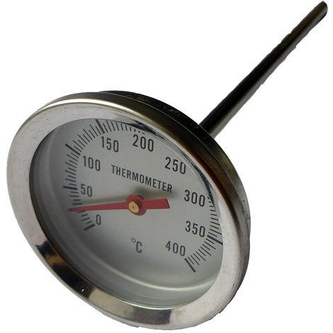 Thermomètre à tige 200 mm - 0 / 400°C