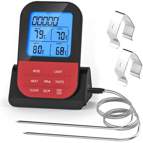Thermomètre à Viande numérique, Barbeque sans fil Bluetooth sondes, LCD Écran pour Four, Cuisine, Barbecue