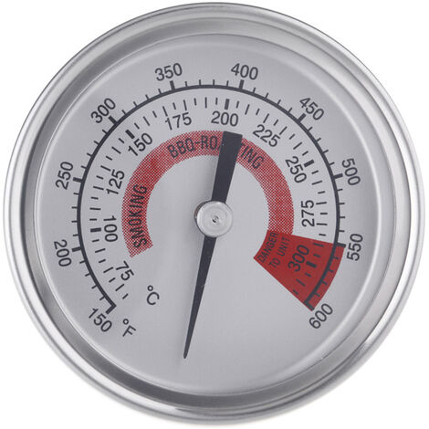 Thermometre, Acier Inoxydable, Double Jauge 300 ¡ã C