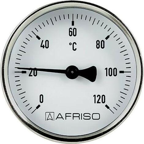 Thermometre d'applique aimanté 63mm, 0 - 120°C