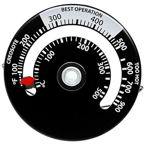 Thermometre de cheminee avec sonde Thermometre de four domestique ¡æ / ¨H Large gamme d'echelle