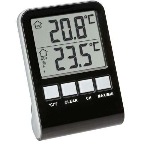 Thermomètre de piscine TFA Dostmann Funk-Poolthermometer Palma 30.3067.10 noir 1 pc(s)