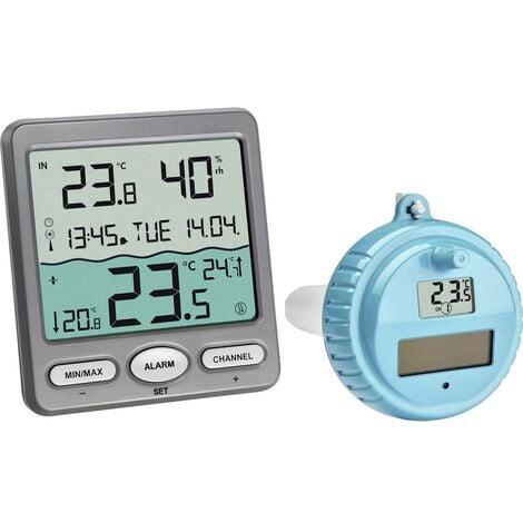 Thermomètre de piscine TFA Dostmann VENICE Funk-Pool-Thermometer anthracite