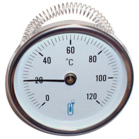 Thermometre DISTRILABO applique A45 diametre 63mm 26x34/50x60 0-120¡C, Ref.74503D