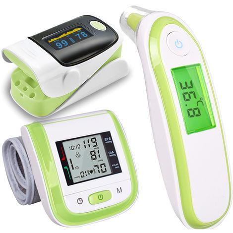 Thermometre Electronique Infrarouge, Oxymetre Et Sphygmomanometre, Vert