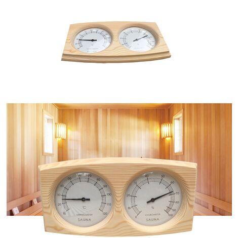 Thermomètre en bois hygromètre accessoires de salle de sauna double mètre hygromètre équipement de sauna