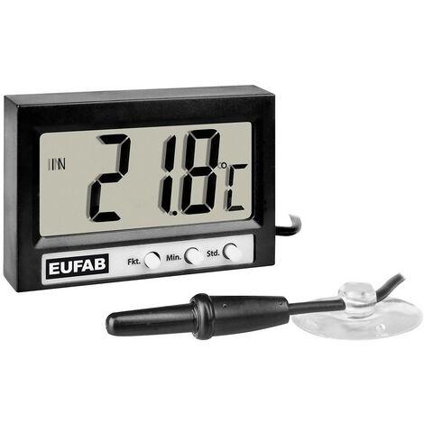 Thermomètre Eufab Thermometer innen/außen digital 27137 température extérieure/intérieure, affichage 12/24 h -50 à +70 °C 1 pc(s)