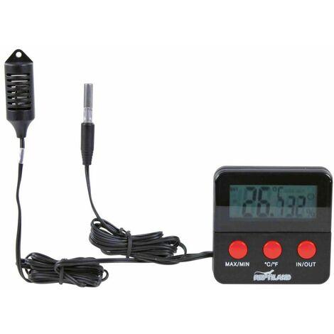 Thermomètre/hygromètre digital, avec sonde - 6 × 6 cm
