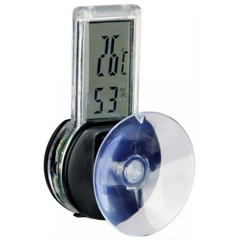 "main image of ""Thermomètre hygromètre digital avec ventouse Reptiland Trixie"""