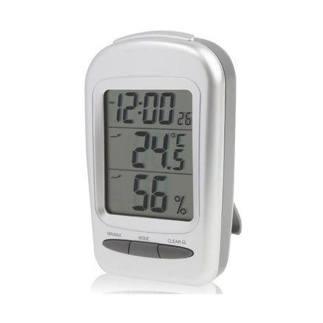Thermomètre Hygromètre d'intérieur de de bureau Digital d'affichage à cristaux liquides avec la date / horloge / avertissement d