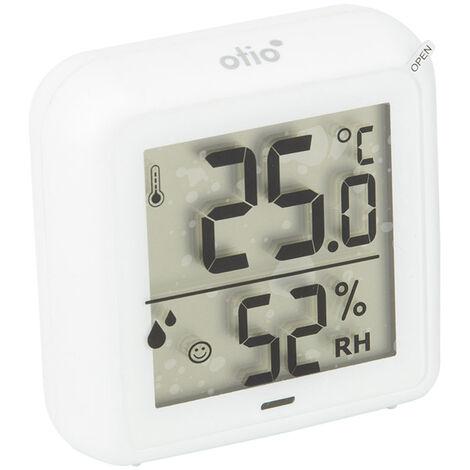 """main image of """"Thermomètre - hygromètre intérieur blanc à piles - Otio"""""""