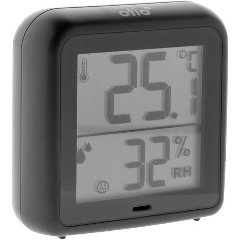"""main image of """"Thermomètre - hygromètre intérieur gris anthracite - Otio"""""""