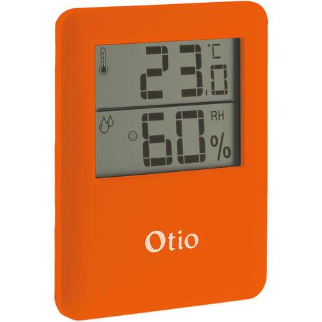 Thermomètre hygromètre magnétique orange - Otio