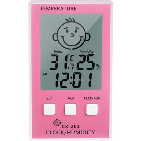 Thermometre Hygrometre Numerique Lcd, Affichage Du Niveau De Confort