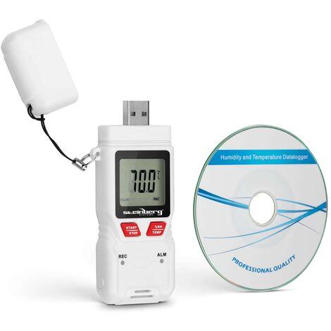 Thermomètre-Hygromètre Température Humidité De L'Air Hygromètre Enregistreur De Données Steinberg