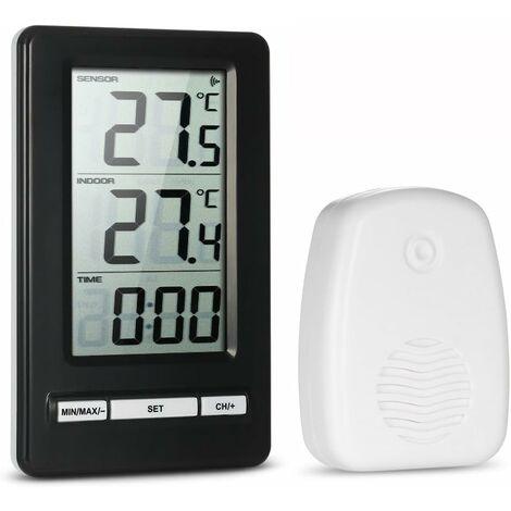 Thermomètre Intérieur et Extérieur LCD Numérique sans Fil Mesure de la Température