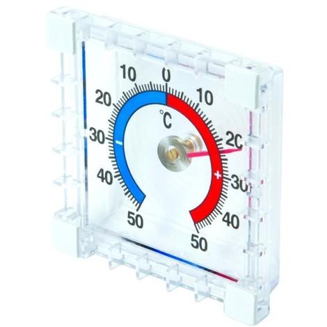 Thermomètre intérieur/extérieur à coller -50 °C à +50 °C