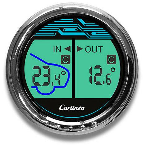 Thermomètre intérieur - extérieur LCD - 30° - + 50° C - sonde 3 m - Carlinéa - -