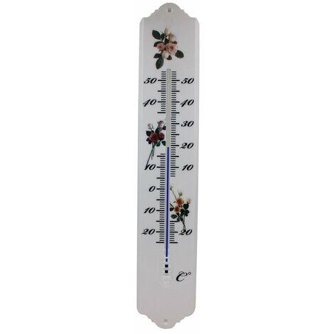 Thermomètre intérieur extérieur plastique 50cm