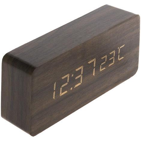 Thermomètre lingot finition effet bois blanc cérusé, chêne, ébène et pin naturel
