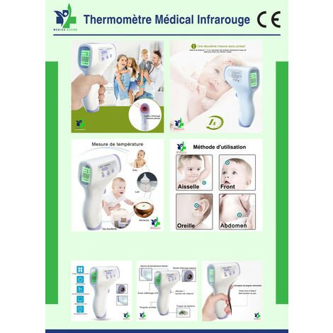 Thermomètre médical infrarouge frontal