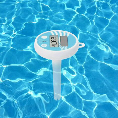 Thermomètre numérique à énergie solaire Thermomètre de piscine flottant, facile à lire et thermomètre résistant aux chocs pour toutes les piscines, spas, spas et étangs extérieurs / intérieurs