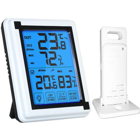 Thermometre Numerique Sans Fil, Avec Capteur A Distance Etanche Xp4