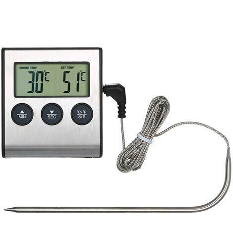 Thermometre pour barbecue TP700 Thermometre pour aliments pour barbecue Thermometre pour barbecue pour barbecue Expedie sans batterie
