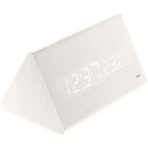 Thermomètre prisme finition effet bois blanc cérusé, chêne, ébène et pin naturel