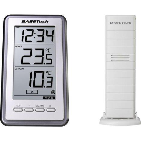 Thermomètre radiopiloté Basetech TS-9160 argent