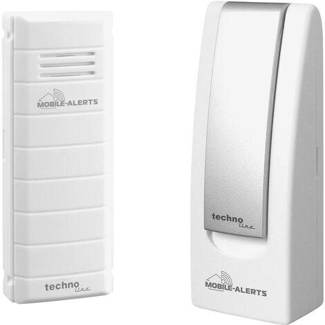 Thermomètre radiopiloté numérique Techno Line Mobile Alerts MA 10001 + Gateway blanc