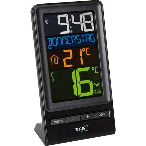 Thermomètre radiopiloté TFA Dostmann SPIRA 30.3064.01 noir 1 pc(s)