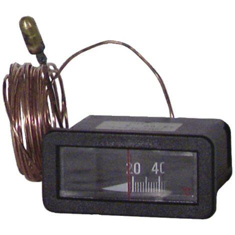 Thermomètre rectangulaire 0°C à 120°C L2,5 - DIFF pour Chappée : S17007062