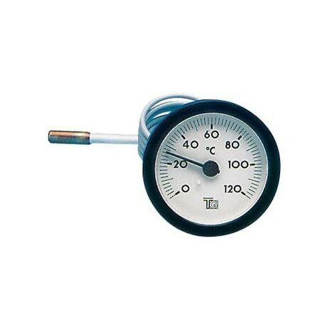 """main image of """"Thermomètre rond D.57 de 0/120°C Capillaire : 1000 mm"""""""