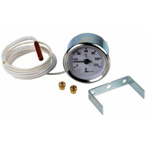 Thermomètre rond et capillaire Ø 52 - 0 à 120°C - Thermomètre rond et capillaire Ø 52 - 0 à 120°C