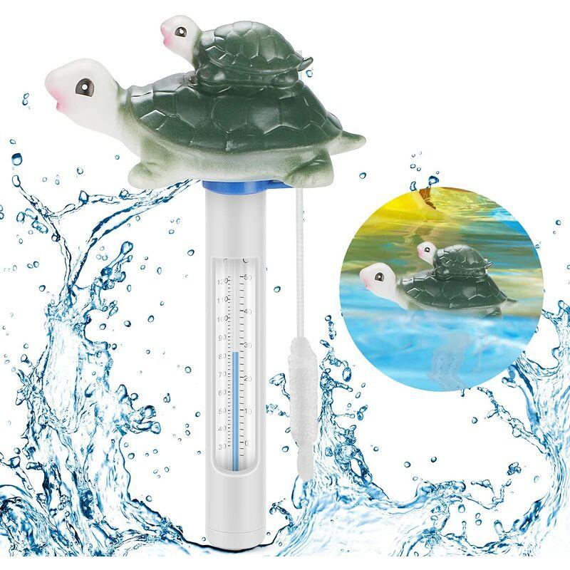 Sunflower - Thermomètre de Piscine Flottant, thermomètre de température d'eau avec Cordon et Petit déjeuner pour Toutes Les piscines extérieures et