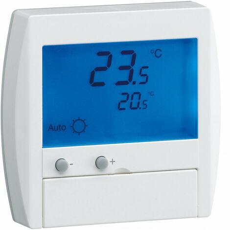 Thermostat ambiance digital semi-encastré chauf élec avec entrée fil pilote 230V (25120)