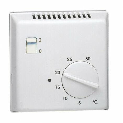 Thermostat ambiance électronique saillie chauf eau chaude sortie inverseur 230V (25501)