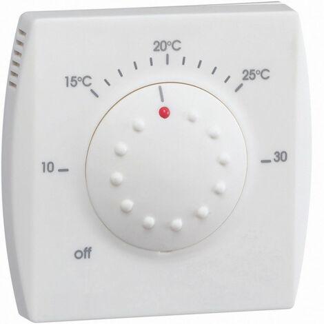Thermostat ambiance électronique semi-encastré avec voyant 230V