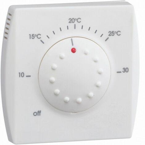 Thermostat ambiance électronique semi-encastré chauf eau ch entrée abaiss 230V