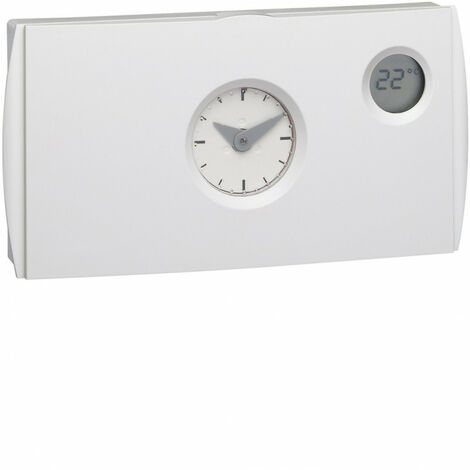 Thermostat ambiance programmable analogique chauf eau chaude 4 fils sur 7j 230V (56572)