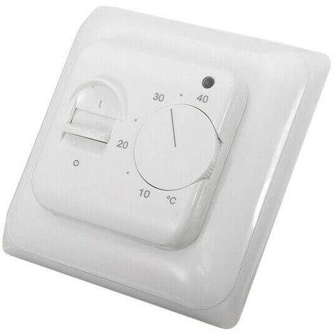 Thermostat analogique 16A 230V pour plancher chauffant, chauffage au sol