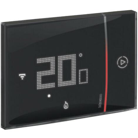 Thermostat Connecté Bticino WIFI SMARTHER 2 encastré Noir 230V XG8002